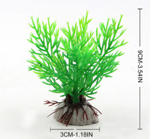 1PCS Artificial Aquatic Water Plant Ceramic Base Plastic Aquarium Plant Deco