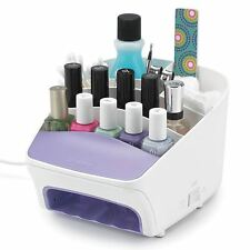 Polder Salon Nail Styling Station 3-in-1 UV Dryer and Storage Solution - White