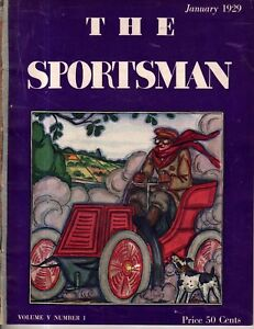 1929 Sportsman - January - New automobiles; fox hunting; Arabian horses;Jai Alai