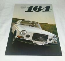 Volvo 164 UK Fold Out Sales Brochure / Leaflet 1968