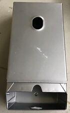 Double Toilet Roll Metal Dispenser Silver