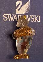 Swarovski Swan Signed Crystal Accordionist Brooch Pin