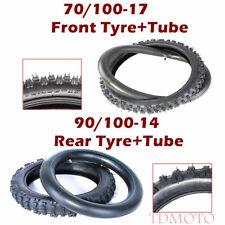 Front 70/100-17 Tire Tube Rear 90/100-14 Tires Set Dirt Bike Pit Bike Off Road