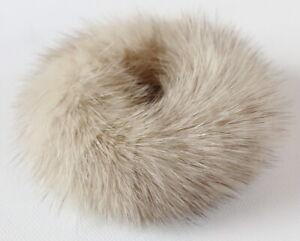 Mink Hair Bands Fur Bracelet Cuff Hair Jewelry Hairstyle Plait Beige Cross Grey