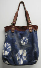 Lucky Brand Suitable For Framing Blue Floral Brown Suede Boho Shoulder Bag Purse