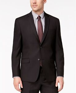 $295 Andrew Marc Classic-Fit Stretch Black Micro-Grid Suit Jacket Men 36S 36 NEW