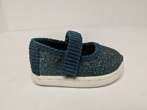 Toms Mary Jane Flats, Atlantic Irredescent Glimmer, Infants 3 M