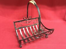 Mini Metal Decorative Firewood Magazine Newspaper Organizer Basket