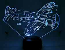P 47 RC Airplane Warbird 3D Acrylic Light with Extras