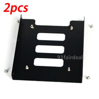 "2PCS 2.5"" to 3.5"" Adapter Bracket Dock SSD Metal HDD Tray Caddy Bay"