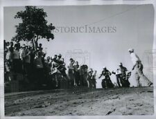 1954 Photo Motorcycle Racer Ed Rusk In A Race 8X6