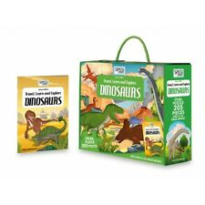 Sassi Travel, Learn and Explore - Puzzle and Book Set - Dinosaurs, 205 pcs