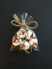5 Heart Rose Scented Bath Bombs with Twine Ribbon...Gift.....