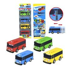 4Pcs/Set Oyuncak Tayo Scale Model Car Tayo Children Miniature Bus Mini bus
