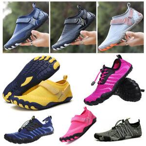 Mens Womens Quick Dry Water Shoes Beach Barefoot Non-Slip Surfing Aqua Socks UK
