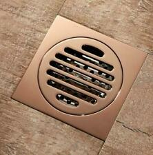 Square Bathroom Rose Gold Brass Deodorant Shower Floor Drain Waste Grate Drainer