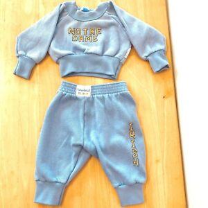 Vintage Notre Dame Irish Sweatshirt and Pants Baby size 6 Mos Fisher Price KC