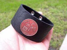 Customize Bracelet Buffalo Leather Israel coin Jewish style wristband