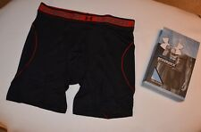 "Mens New Under Armour  6"" ISO-Chill Mesh Boxerjock Black Size M"