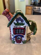 2002 Blue Sky Corp Heather Goldminc Welcome House Candle Holder Handle