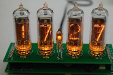 Retro Nixie Tube Clock IN-14  DIY KIT ALL PARTS PCB YELLOW  W/OUT TUBES