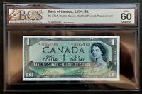 1954 Bank of Canada$1 Beattie & Coyne Replacement Note *A/A BCS UNC-60 BC-37aA