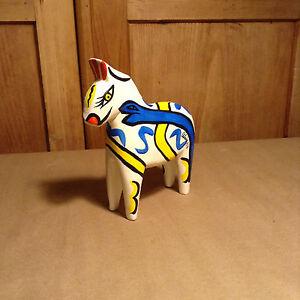 Very Rare Vintage ULRICA HYDMAN-VALLIEN signed Wooden Dala Horse