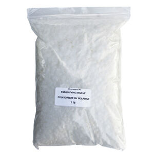 EMULSIFYING WAX NF VEGETABLE POLYSORBATE 60/ POLAWAX  from 2 oz to 8 LB