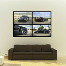 Poster of Mercedes SL65 AMG Black 360 Forged wheels Huge Collage 54x36 Print