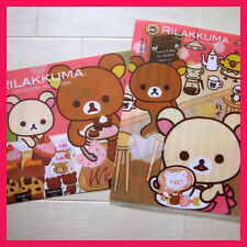 san-x rilakkuma relax bear chocolate & coffee A4 plastic folder set of 2