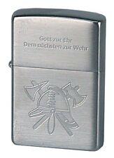 ZIPPO Benzin Feuerzeug  Feuerwehr Helm mit Spruch NEU in Deutschland PORTOFREI