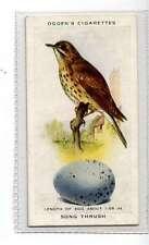 (Jk335-100) Ogdens,British Birds & Their Eggs,Song Thrush,1939 #44