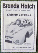 BRANDS HATCH CHRISTMAS CAR RACES OFFICIAL PROGRAMME 28 DEC 1980