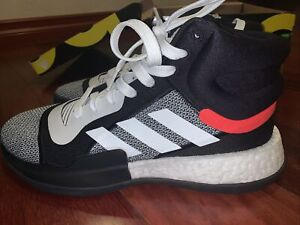 Adidas Marquee Boost BB7822 Black Solar NBA Hoops Basketball Shoes Men's 10 new