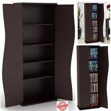 Media Storage Cabinet Game DVD Movie Tower Stable Organizer Stand 5 Shelves NEW