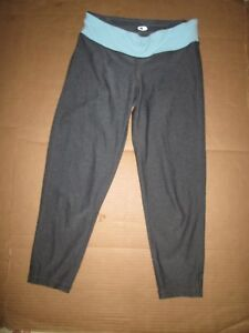 Womens CHAMPION C9 athletic reversible fitted capri pants sz S Sm running gym