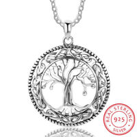 Genuine Sterling Silver 925 Tree of Life Pendant Necklace for Women + Gift Box