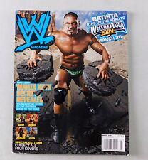 Dave Batista March 2008 Wrestling Magazine Raw WWE WWF Mania HHH Cena Undertaker