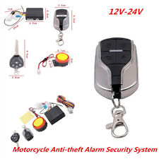 Motorcycle Motorbike Alarm Security System Immobiliser Remote Control Universal
