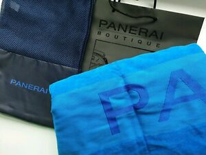 Panerai Large Luxury Blue Beach Towel in Travel Storage Bag