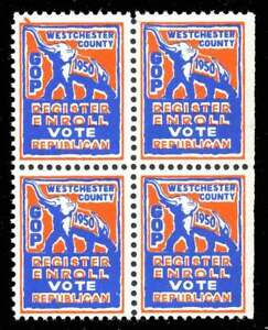USA Poster Stamps - Political - Westchester County (NY) Republican Party 1950