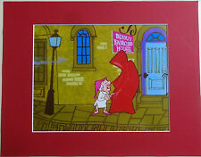 MATTED MR MISTER MAGOO SCROOGE CHRISTMAS CAROL ANIMATION ART CELL  CEL