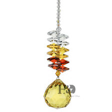Crystal Suncatcher Glass Pendant Window Hanging Ornament with Gold Prism Gift