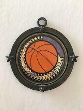 Vintage Holographic Basketball Center Spin Medal Medallion
