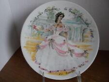 "Limoges Collector Plate ""Scarlett en Crinoline - la Femme inaccessible 1865"""