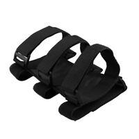 Black Adjustable Roll Bar Fire Extinguisher Brackets Strap Holder For Car