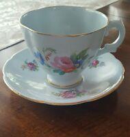 ROYAL STUART SPENCER STEVENSON ♡ TEA CUP & SAUCER ♡ SCALLOPED BONE CHINA ENGLAND