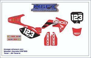 Honda CRF150 Geico Graphics KIT  Customised motocross