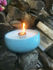 Turquoise Toothpaste Light Candles Wax Remnants Dochthalter Fiber Wick Fire