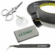 5mm x 50m Black Adhesive Tape Roll for iPhone Tablet Cell Phones Laptop